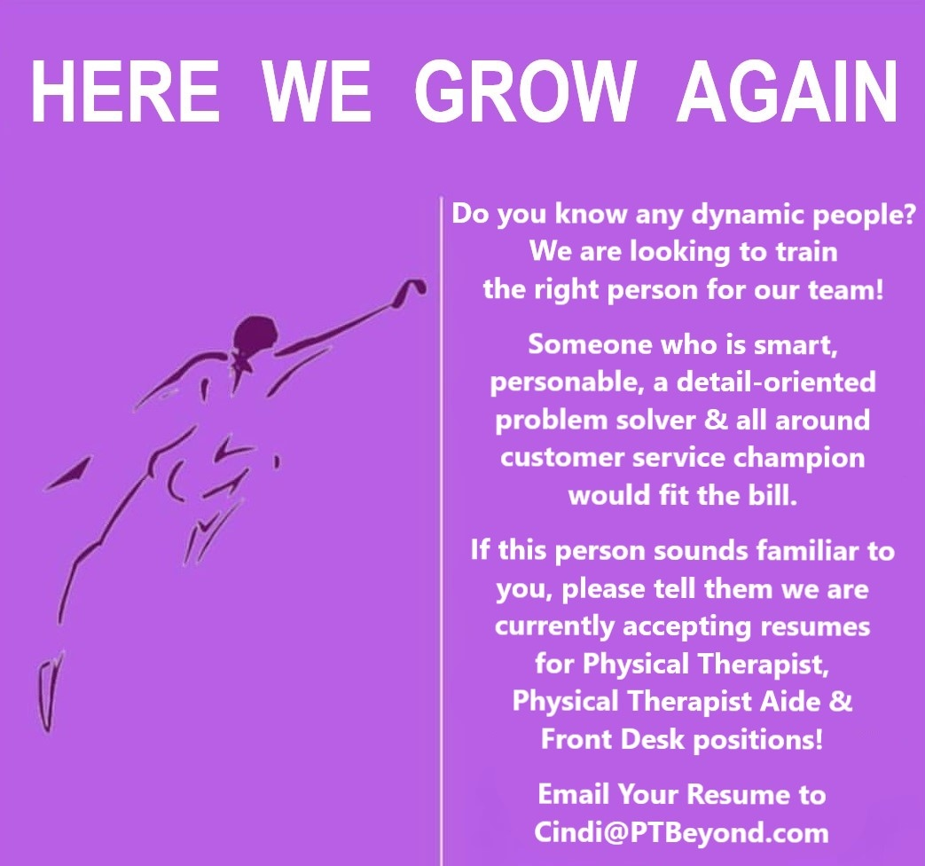 Employment Opportunities   Physical Therapy & Beyond