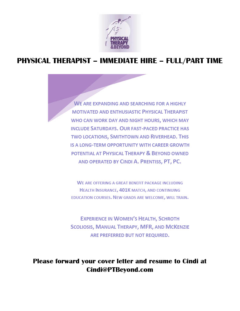 Physical Therapy Cover Letter from physicaltherapybeyond.com